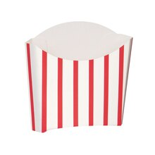 Red and White Striped Paper Snack Containers, 8ct