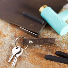 Father's Day Stamped Leather Keychain, medium