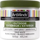 16oz. Semi-Gloss DIY Outdoor Paint By ArtMinds, True White