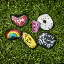 Painted Sentiment Rocks, medium