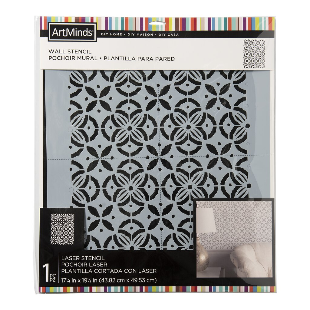 Find the diy home batik wall stencil by artminds at michaels amipublicfo Image collections