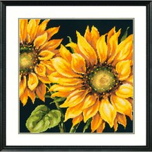 Dimensions Needlepoint Kit, Dramatic Sunflower Framed