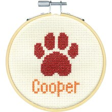 Dimensions Counted Cross Stitch Kit, Paw Print