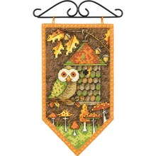 Dimensions Counted Cross Stitch Kit, Mini Fall Banner