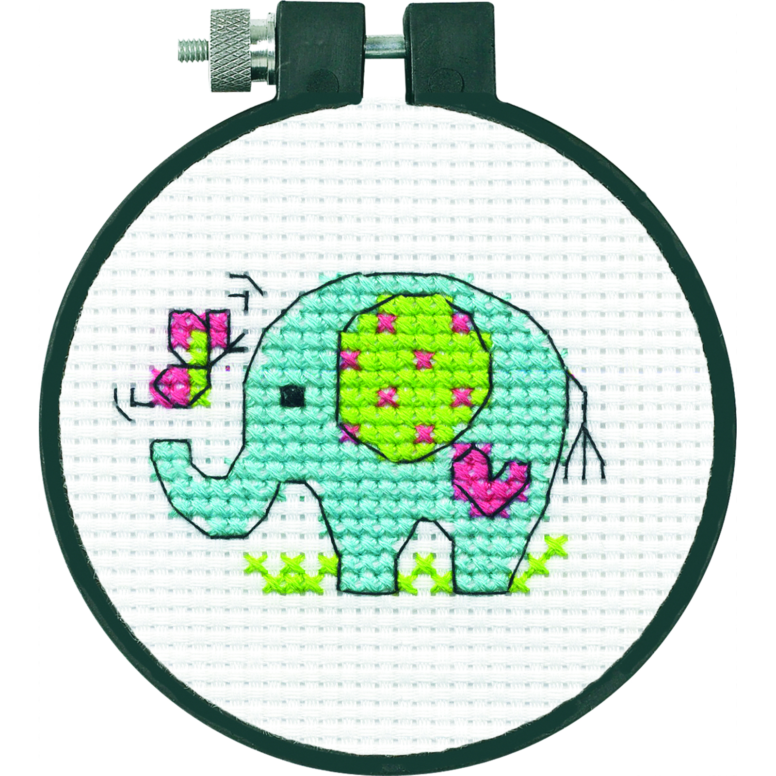 Buy the dimensions counted cross stitch kit elephant at