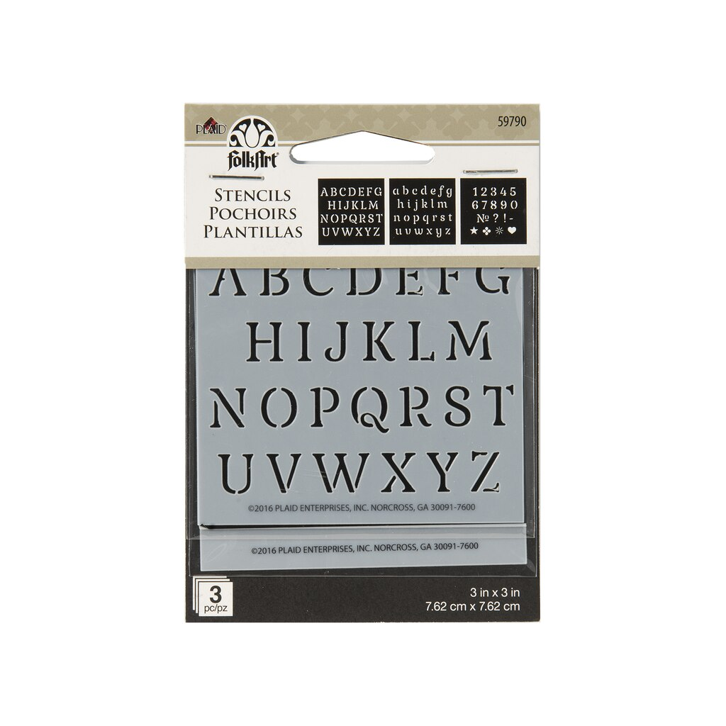 Buy the FolkArt® Mini Alphabet Stencils at Michaels
