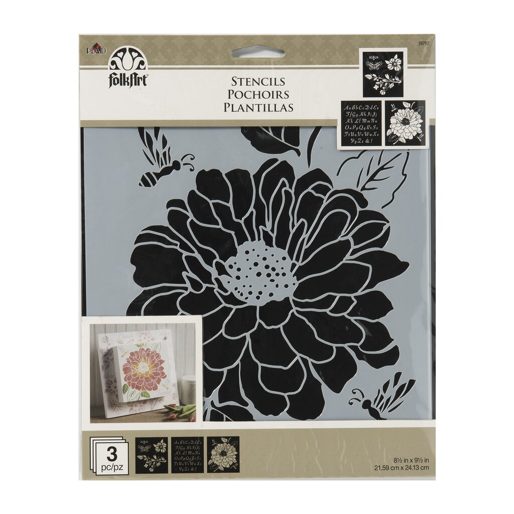 Find the folkart stencils garden at michaels folkart stencils garden izmirmasajfo Images