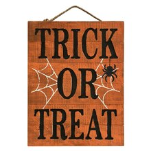 Orange Trick or Treat Wall Sign By Ashland