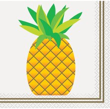 Pineapple Summer Cocktail Napkins, 24ct