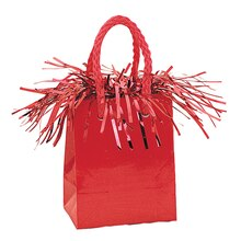 Gift Bag Shaped Red Balloon Weight