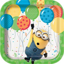 "7"" Square Despicable Me Minions Party Plates, 8ct"