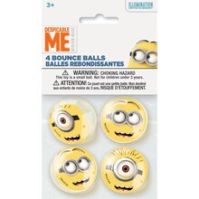 Despicable Me Minions Bouncy Ball Party Favors, 4ct Pack