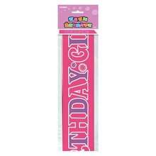 Purple and Pink Birthday Girl Sash Packaged