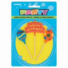 Balloons Birthday Candle Set, 3pc