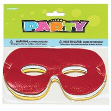Foil Costume Party Masks, 8ct
