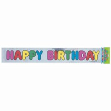 Foil Happy Birthday Banner, 12 Ft.