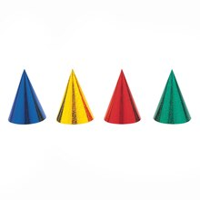 Prismatic Party Hats, 8ct