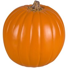 "9"" Orange Craft Pumpkin with Tan Stem By Ashland"