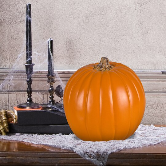 Shop for the 9 orange craft pumpkin with tan stem by for Pumpkin stems for crafts