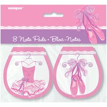 Tutu Ballerina Notepad Party Favors, 8ct