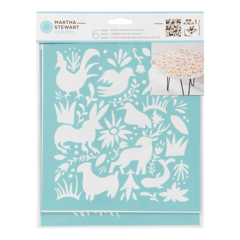 Buy the martha stewart crafts laser cut stencils otomi for Weekly ad for michaels craft store