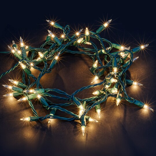Shop For The Creative Collection™ Shimmer Lights Green Vine By  - Michaels Christmas Lights