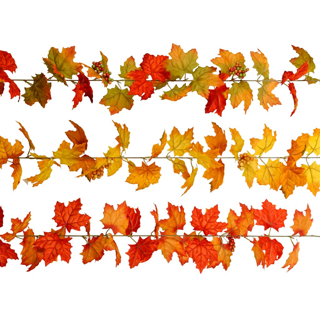 buy the assorted maple leaf garland by ashland at michaels