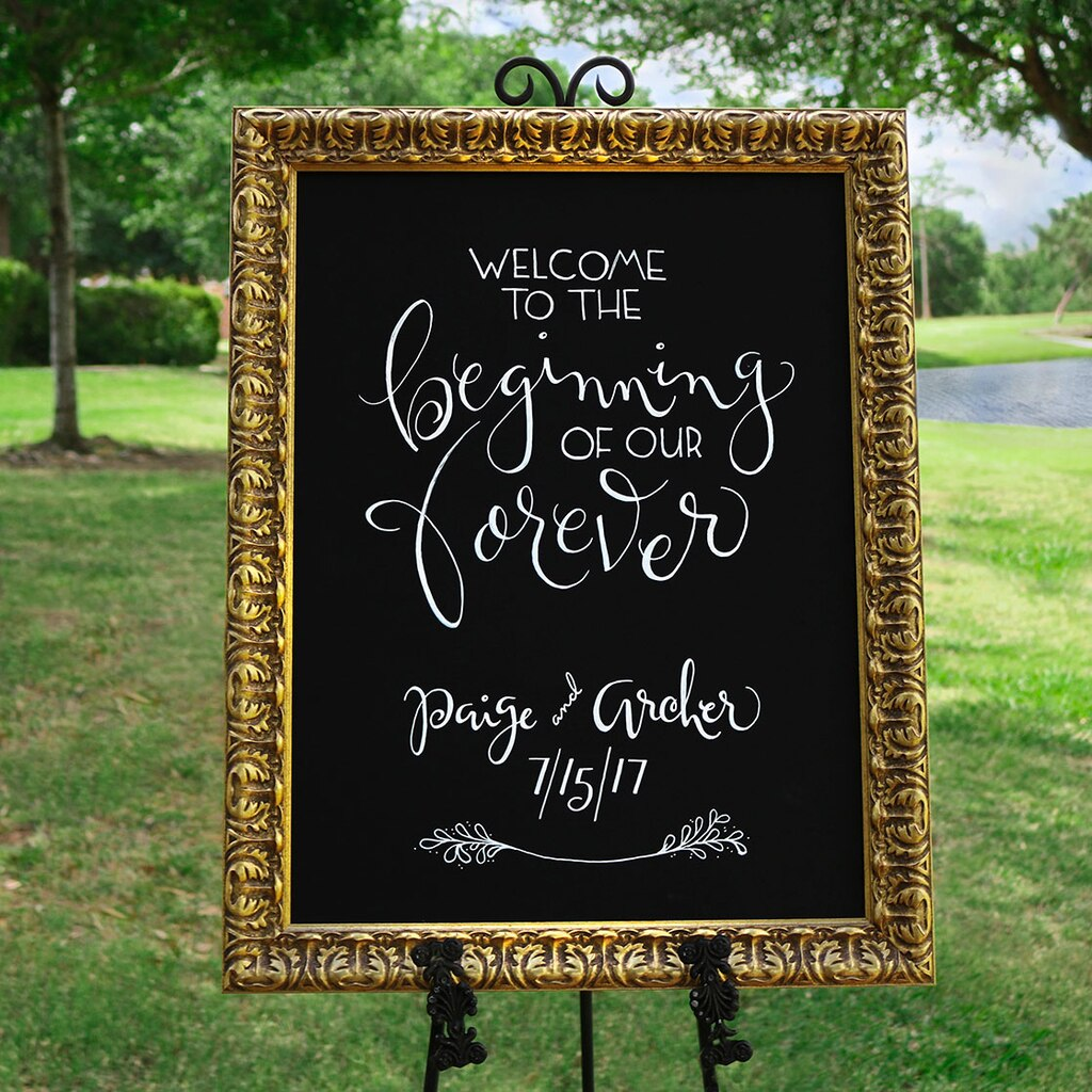 Wedding ideas custom framed chalkboard wedding sign medium junglespirit Images