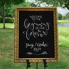 Custom Framed Chalkboard Wedding Sign, medium