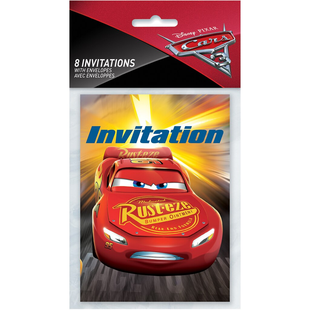 Disney Cars Party Invitations | Disney Cars Party Supplies