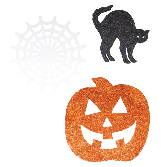 Glitter Halloween Paper Cutouts | Halloween Party Decorations