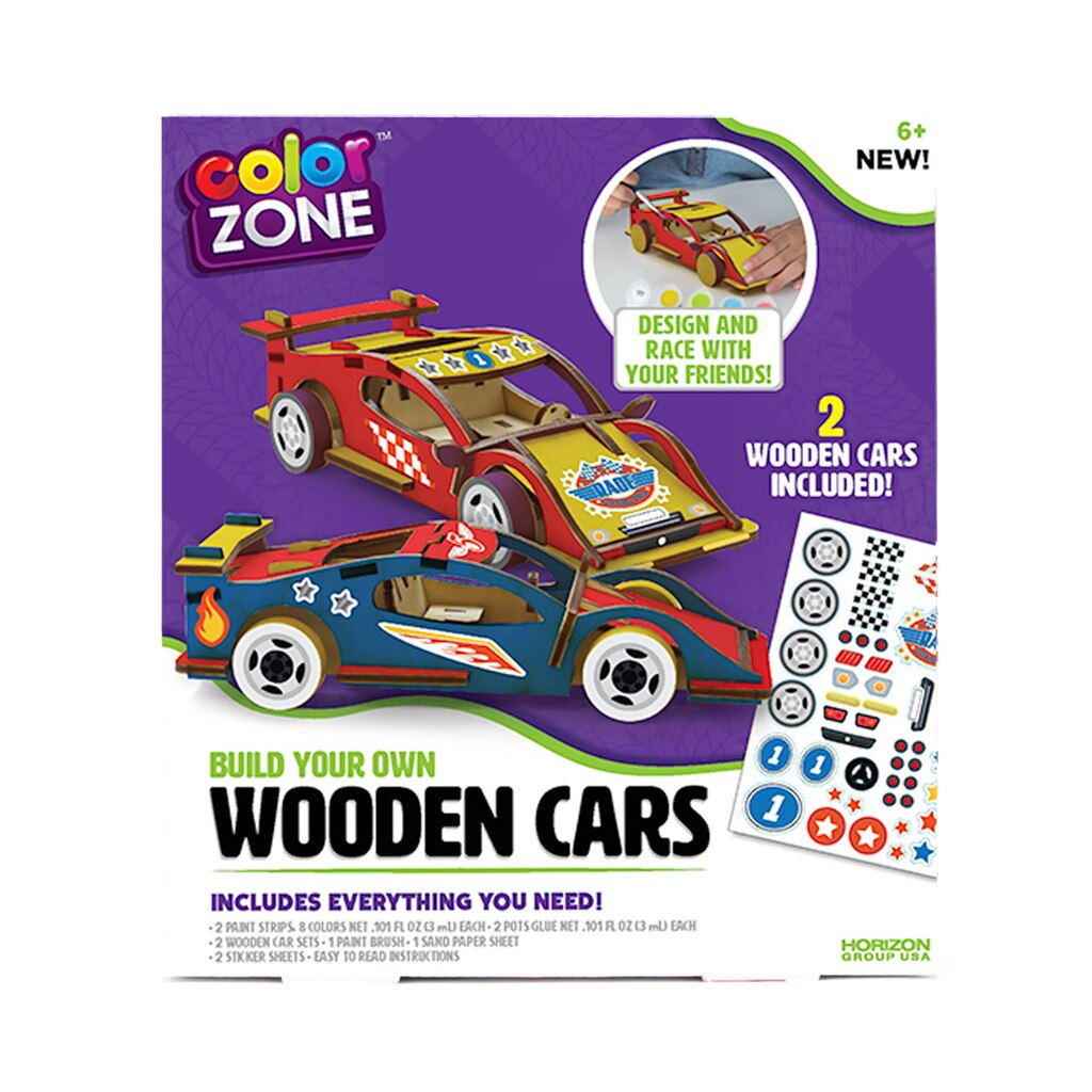 Color Zone™ Build Your Own Wooden Car Kit