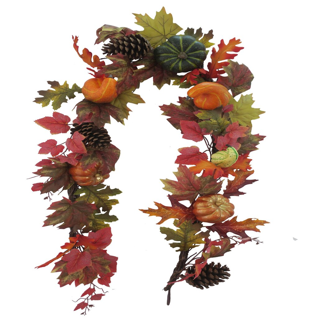 buy the maple leaf twig garland with gourds u0026 pumpkins by ashland