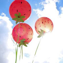 Strawberry Balloons, medium