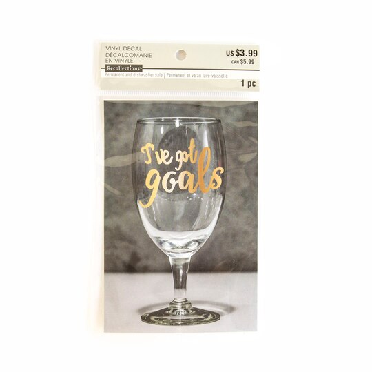 Find The Ive Got Goals Vinyl Decal Sticker By Recollections At - Vinyl stickers for glass michaels