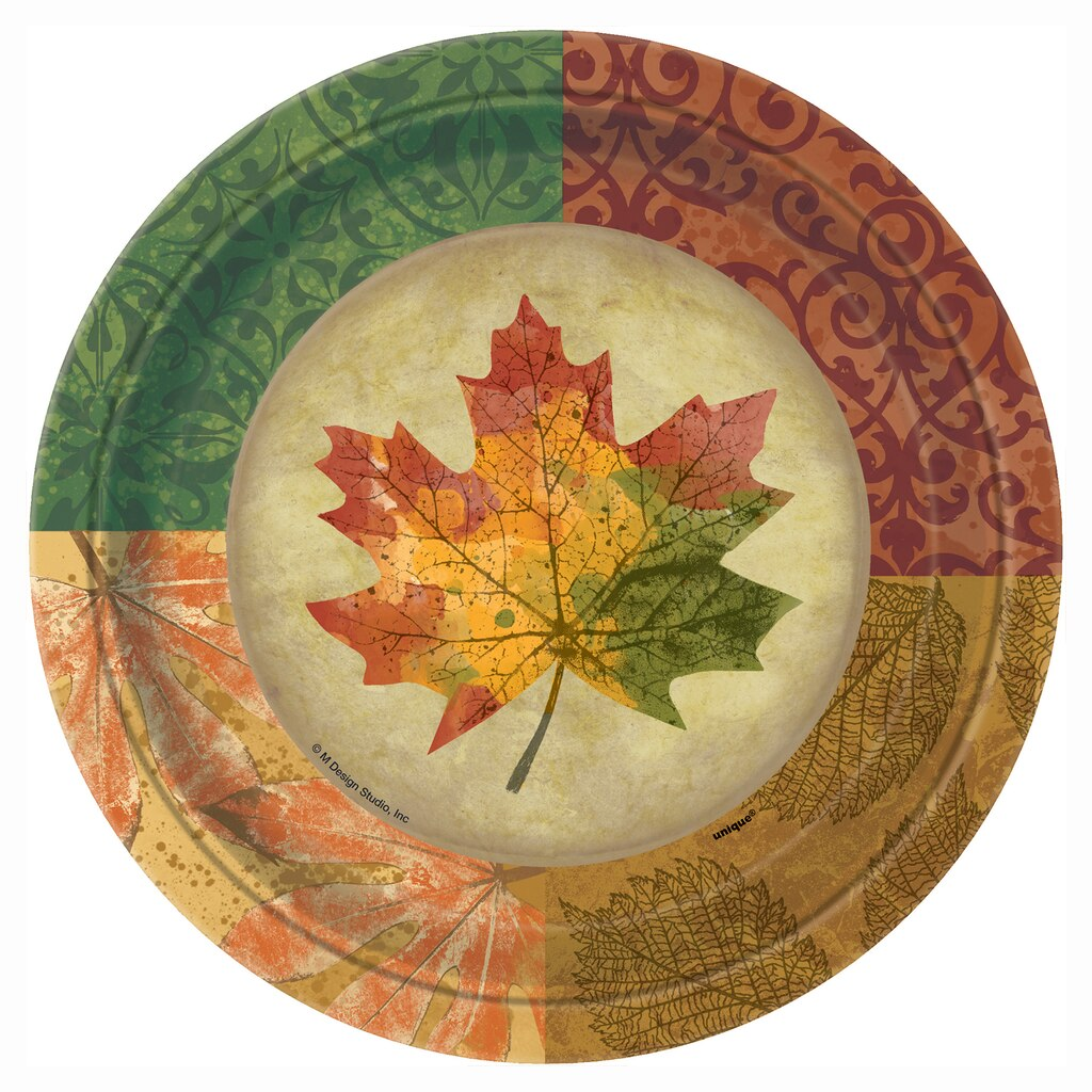 Rustic Fall Paper Plates   Fall Party Supplies