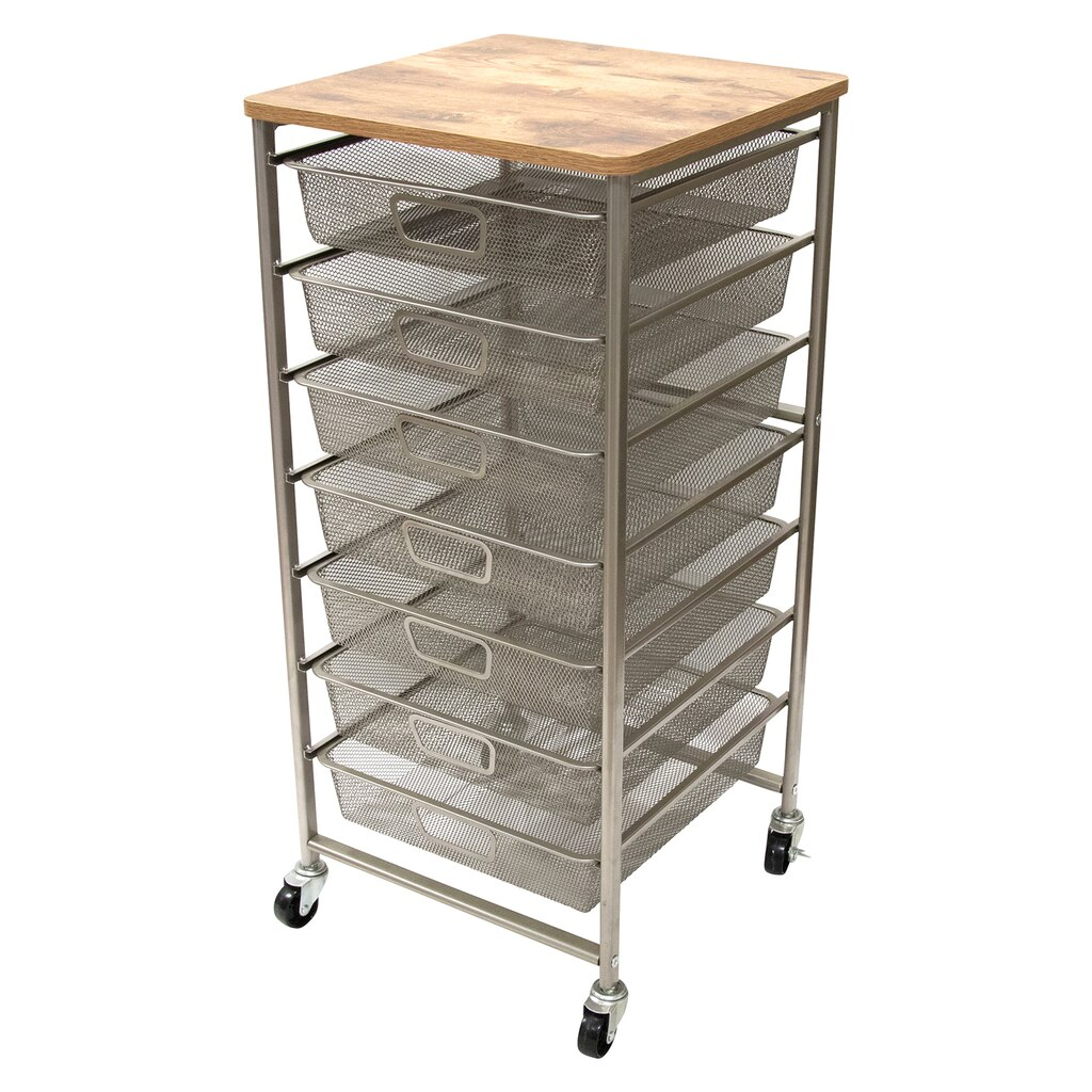 kitchen dp amazon double dining carts with w com drawers storage multicolor cart drawer