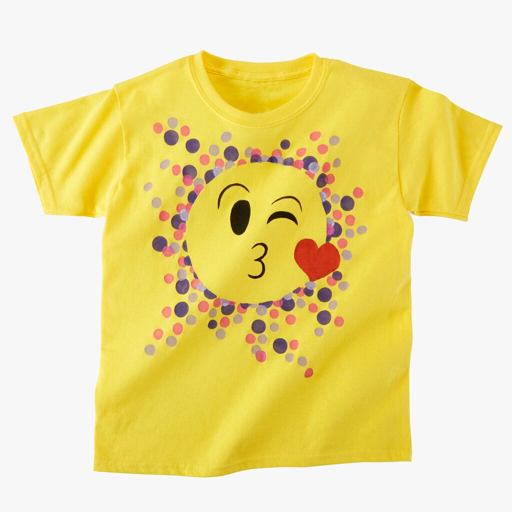 Kids Club Painted Emoji T Shirt