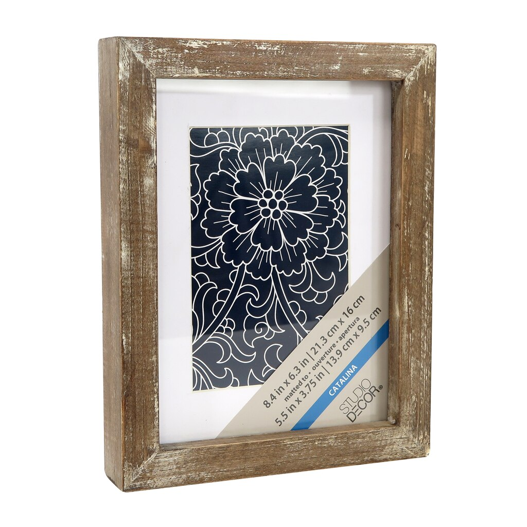 Catalina frames dcor catalina rustic wooden frame with mat by studio dcor jeuxipadfo Images