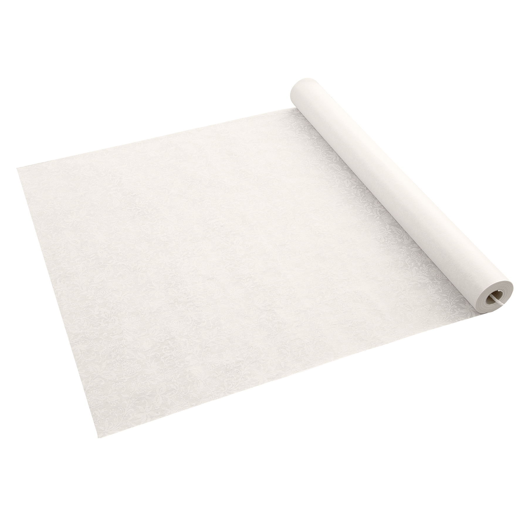 Marvelous Ivory Colored Floral Aisle Runner, 100ft