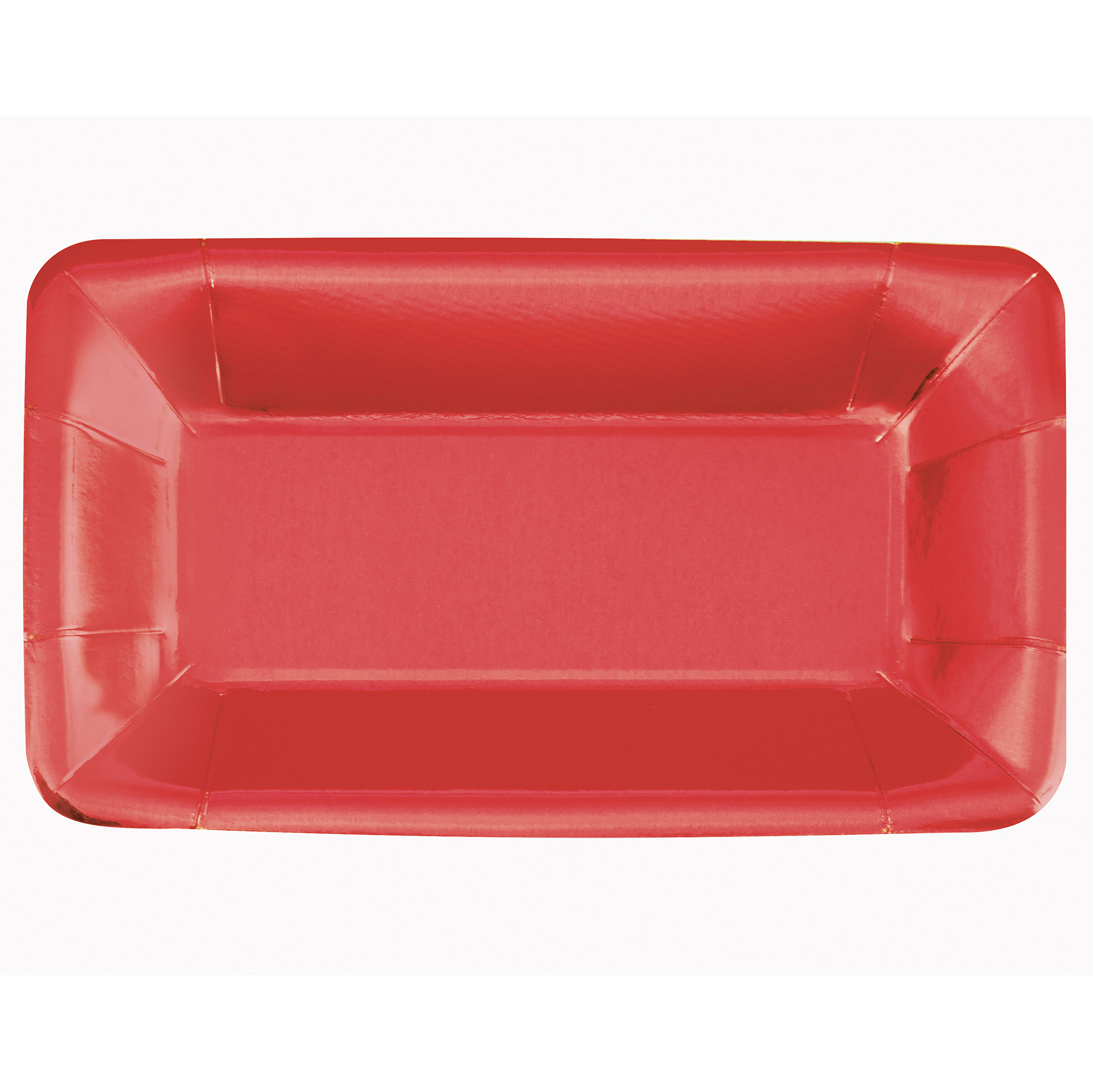 Foil Red Rectangular Paper Appetizer Plates 8ct  sc 1 st  Michaels Stores & Foil Red Rectangular Paper Plates | Red Party Supplies