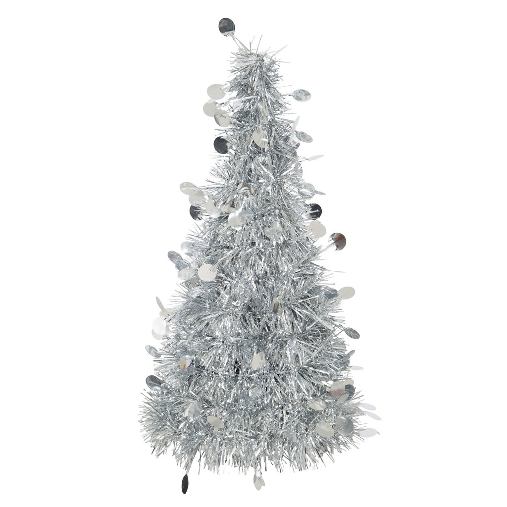 Silver Christmas Tree Table Decoration