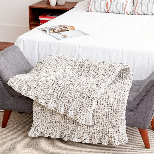 Bernat 174 Blanket Basketweave Crochet Blanket