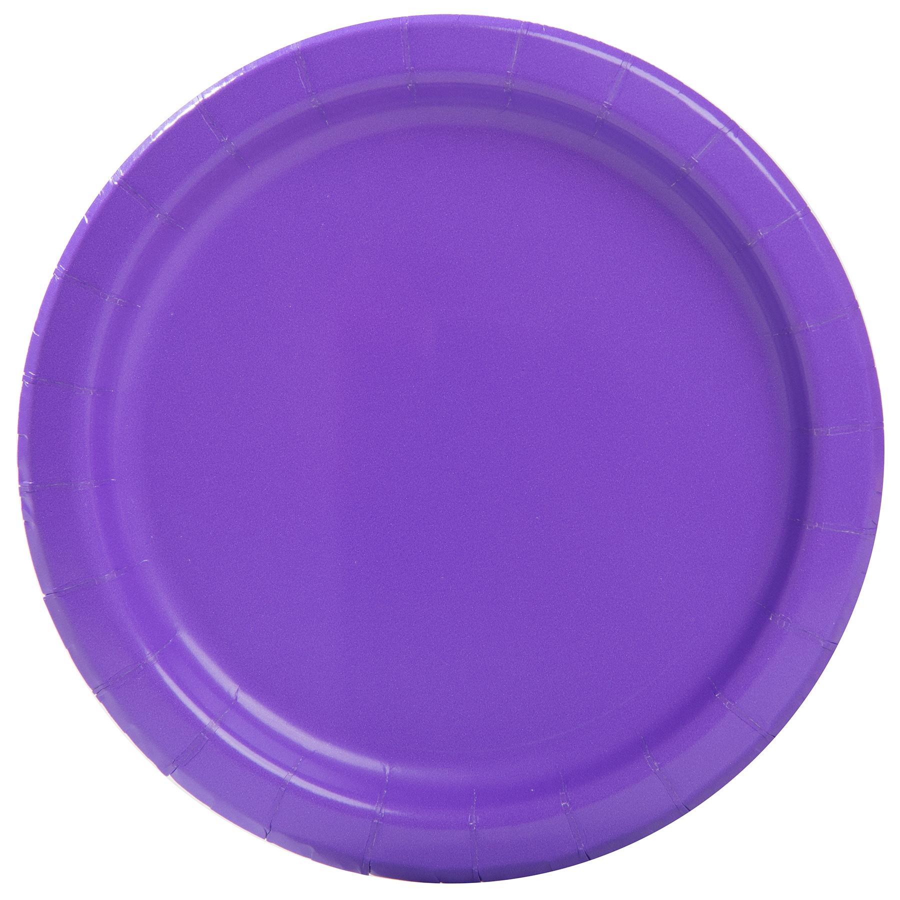 7  Neon Purple Party Plates ...  sc 1 st  Michaels Stores & Neon Purple Paper Cake Plates   Neon Purple Party Supplies