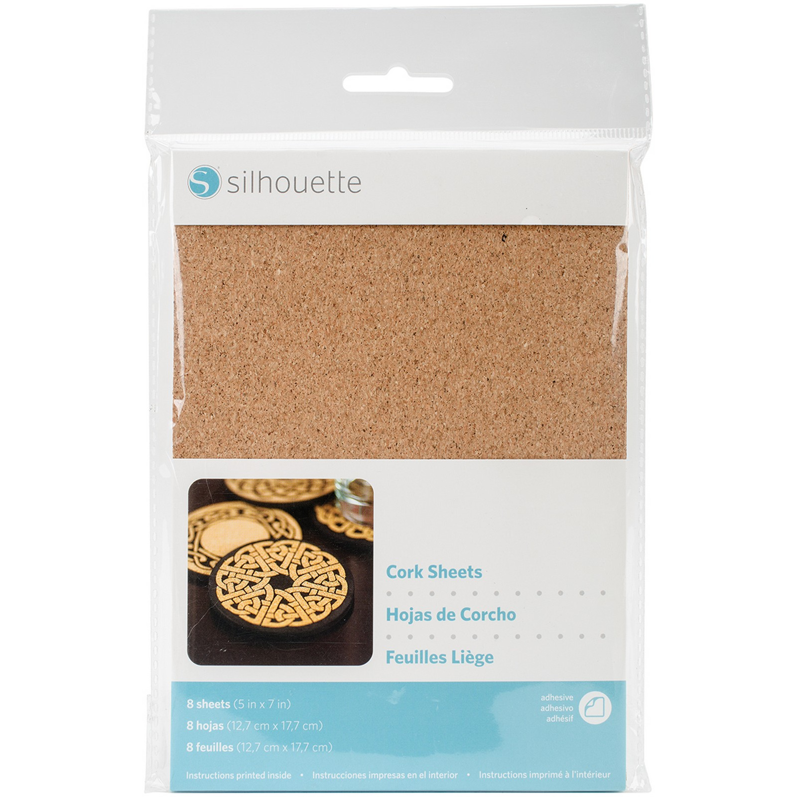 silhouette adhesive cork sheets