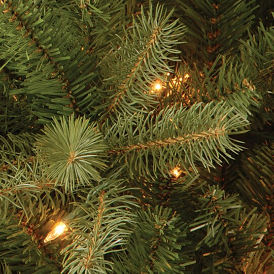 Get The 12 Ft Pre Lit Feel Real® Downswept Douglas Fir Pencil  - Artificial Christmas Tree 9 Ft