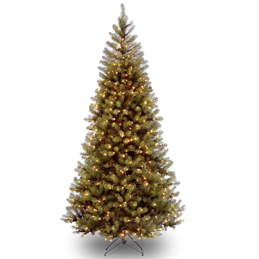 pre lit hinged aspen spruce slim artificial christmas tree clear lights - Christmas Tree Slim
