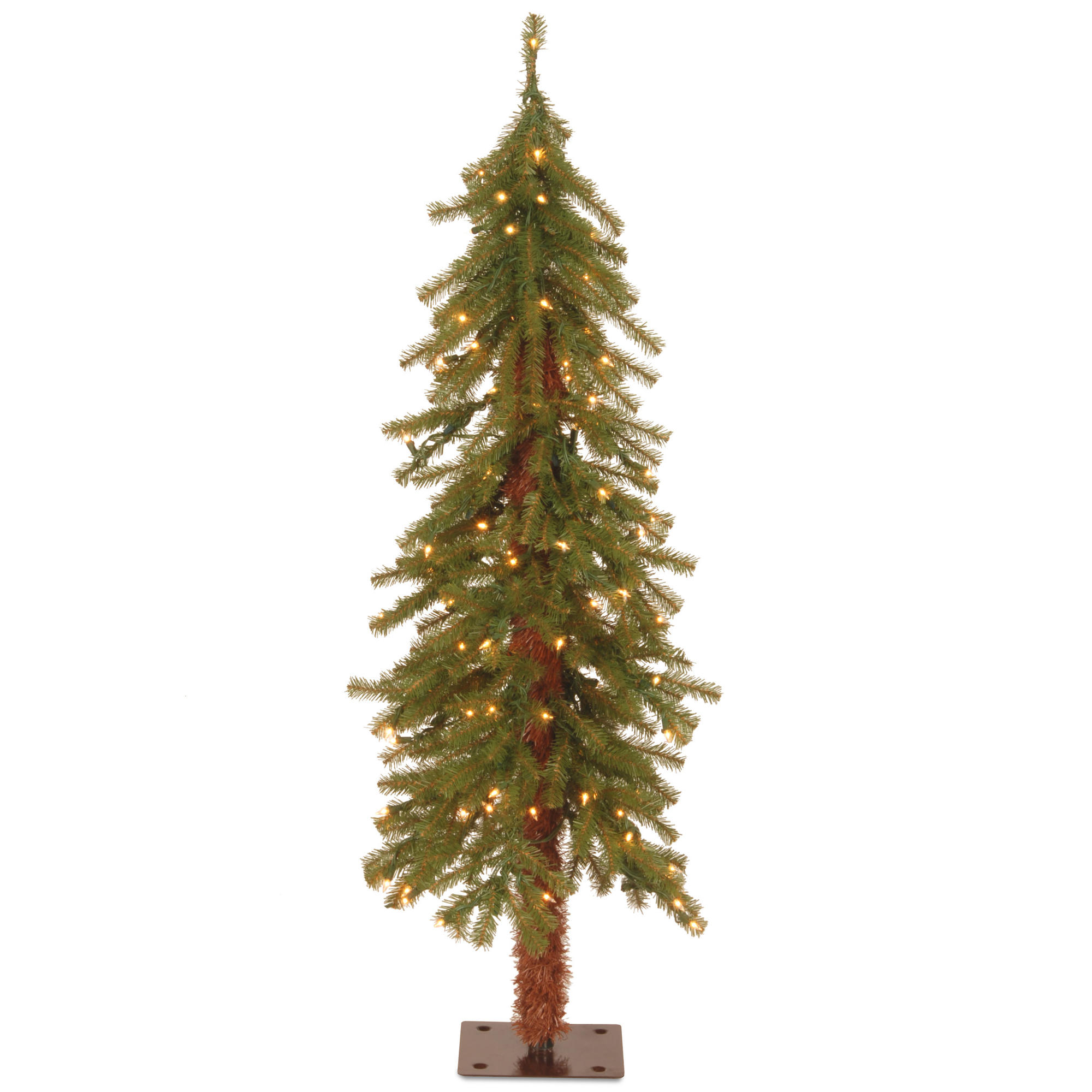 4 ft. Pre-Lit Hickory Cedar Artificial Christmas Tree, Clear Lights