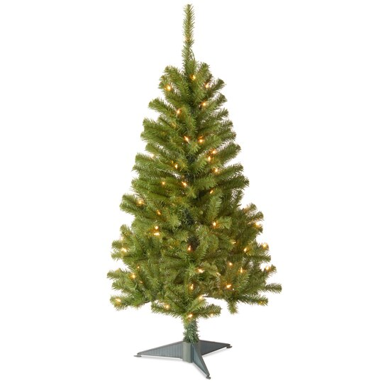 pre lit canadian fir grande wrapped artificial christmas tree clear lights - Artificial Christmas Trees With Lights