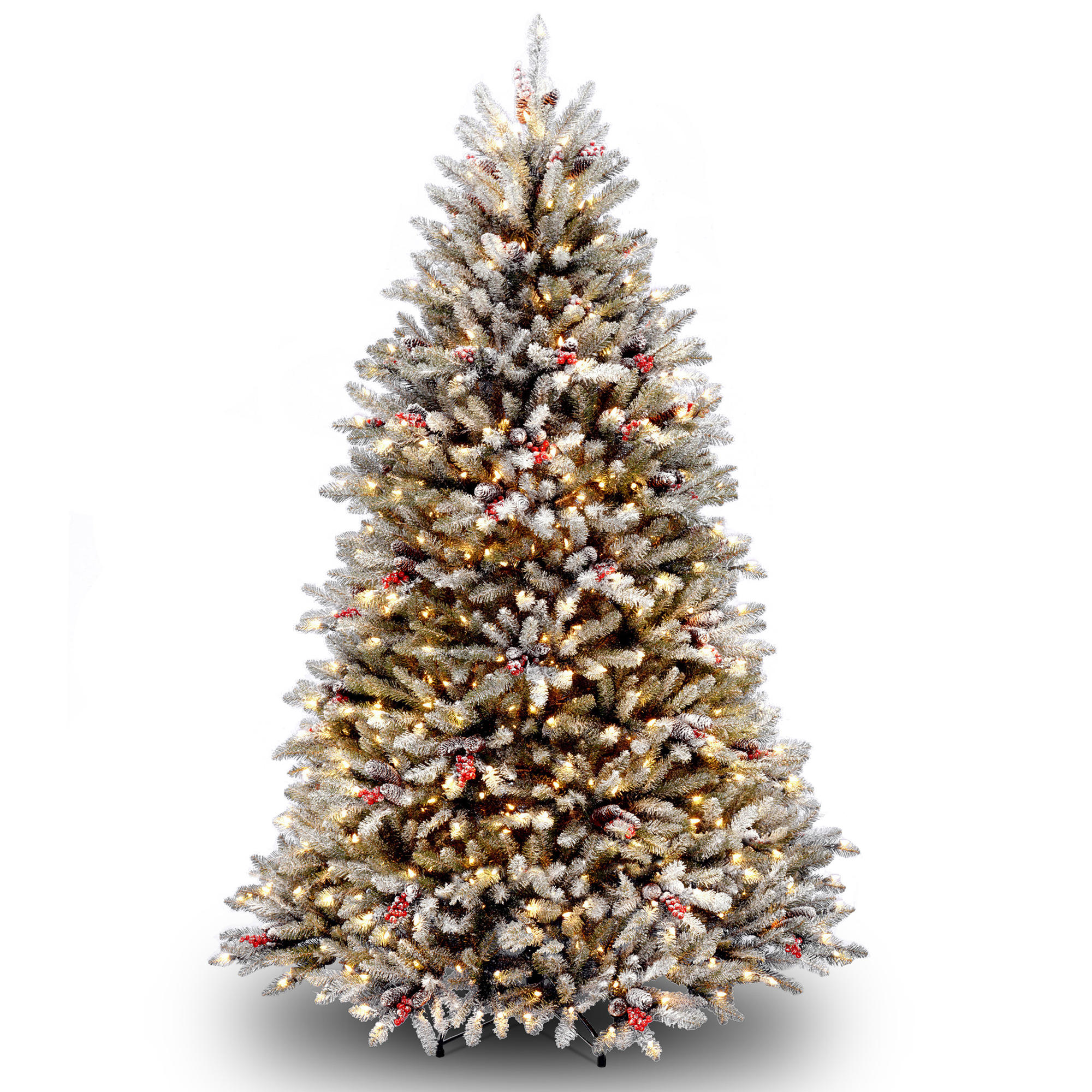 Get the 6.5 ft. Pre-Lit Flocked Dunhill® Fir Full Artificial ...